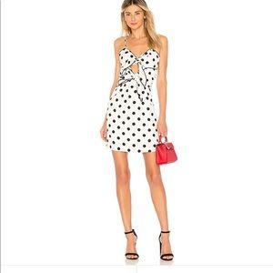 Bardot Aubrey Tie Dress in White Spot 💕